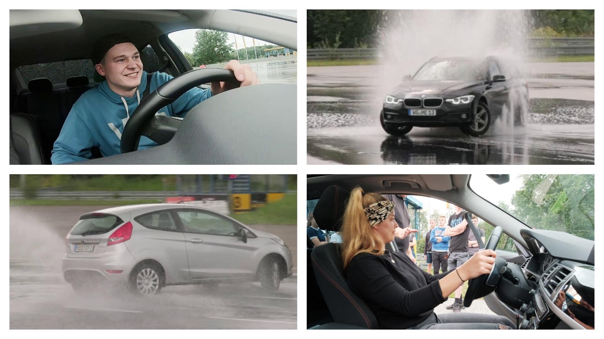 Nasse Straße? Junge Fahrer lernen beim ADAC-Training die Grenzen der Physik kennen