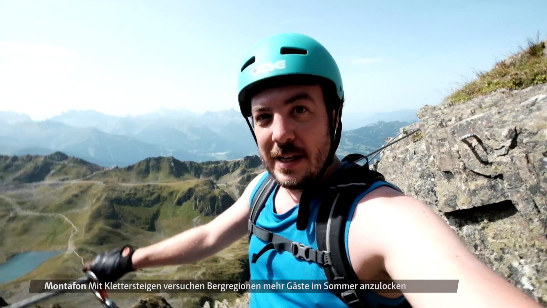 Reporter: Klettersteigtest im Montafon