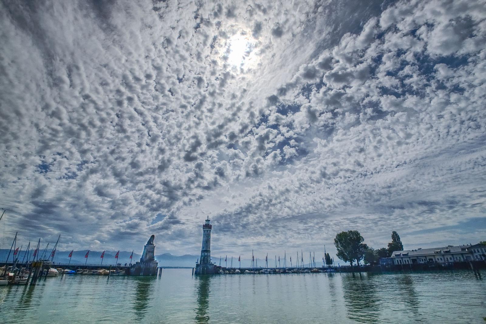 Wolkendecke über Lindau
