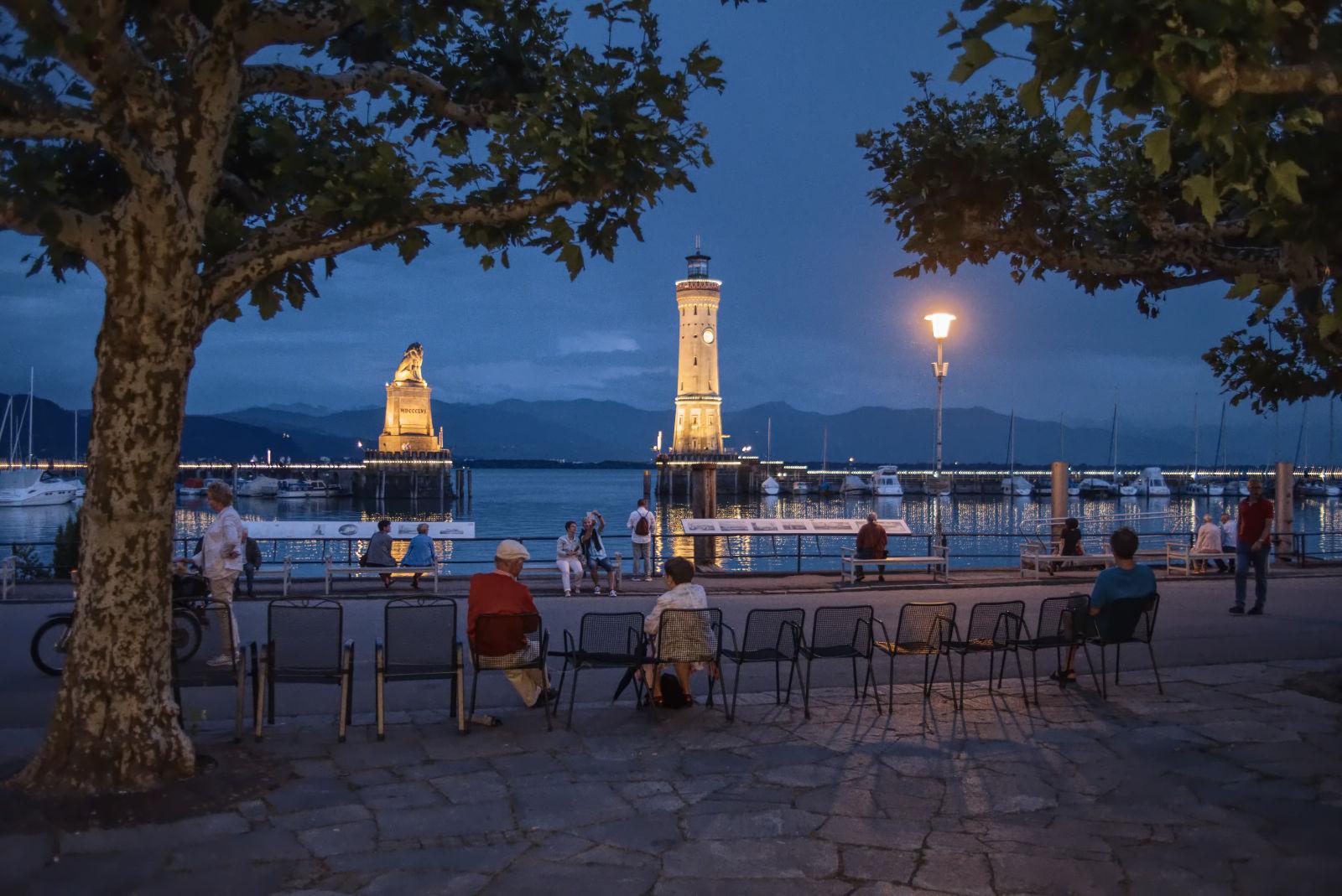 Feierabend im Lindauer Hafen