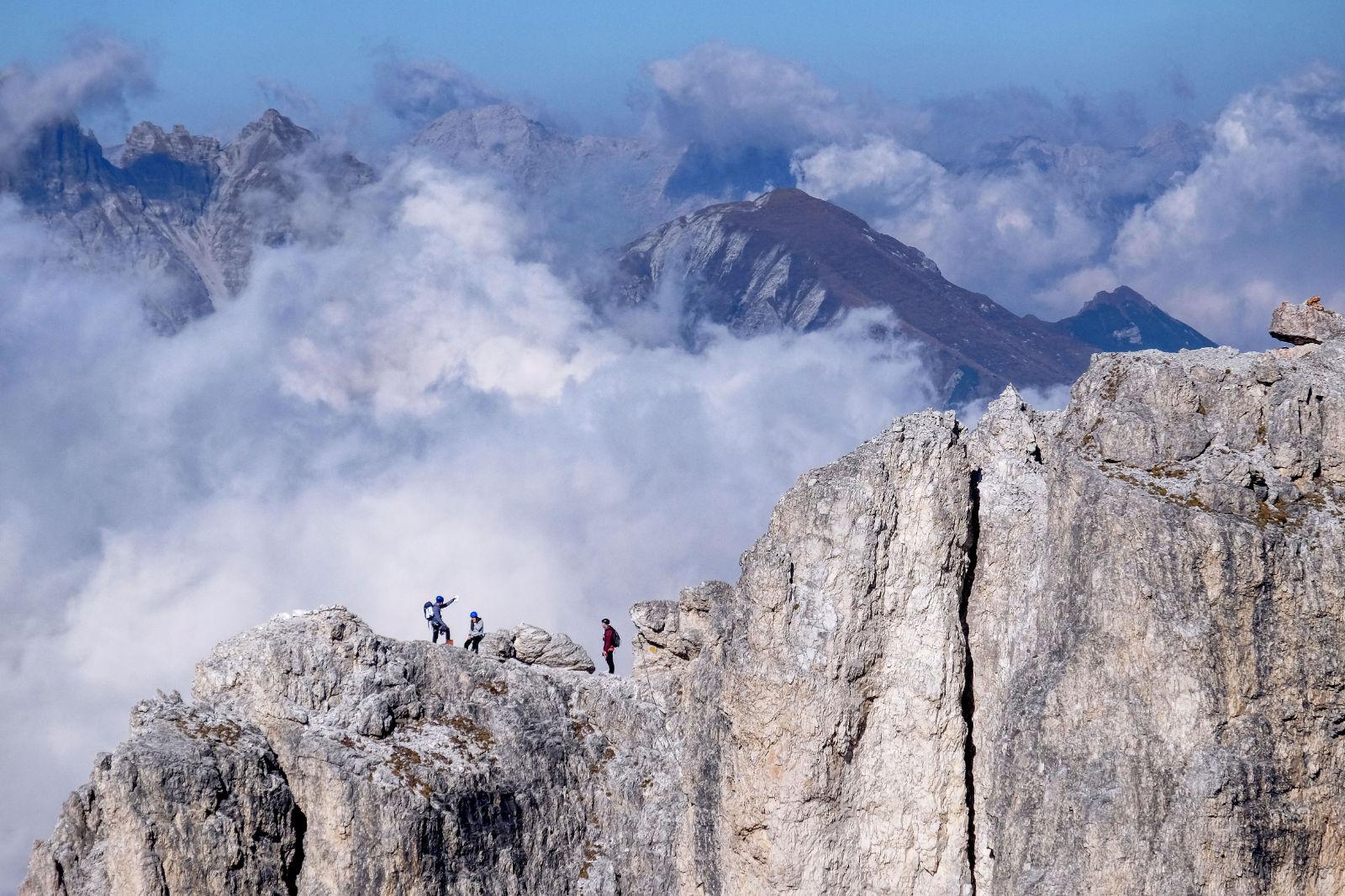 Bergsteiger im Stubaital