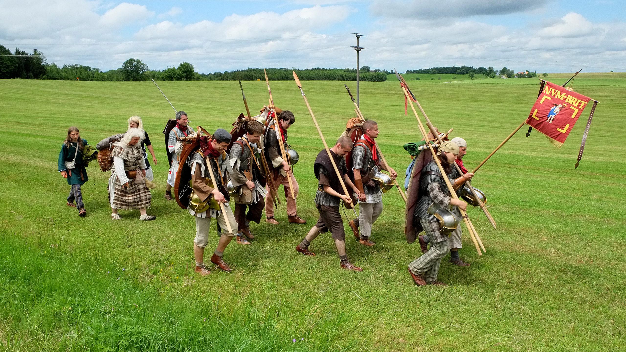Römer laufen über die Ostalb