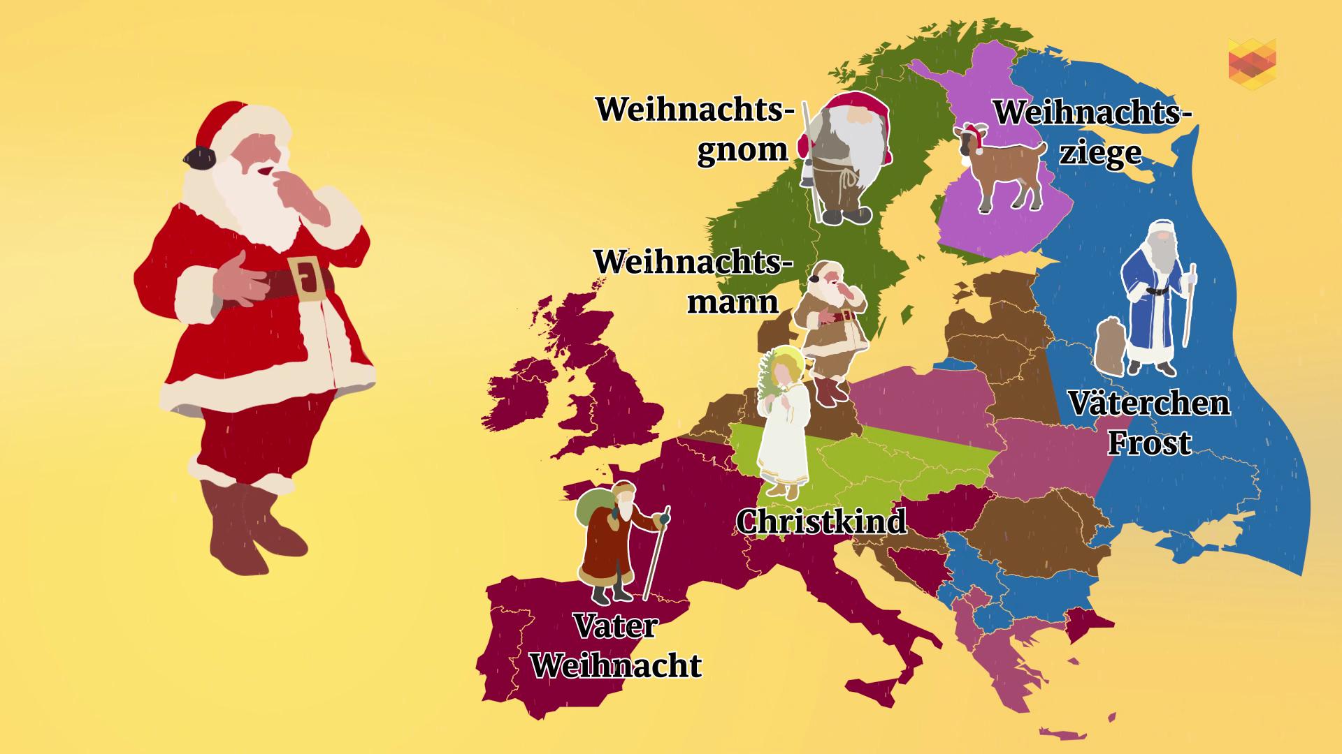 Kurz erklärt: Wo kommt der Nikolaus und wo kommt der Weihnachtsgnom?